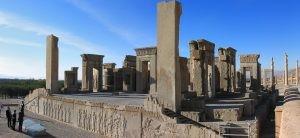 City of Cultures Festival Iran 2018 Ruïnes van de zaal van honderd zuilen in Persepolis